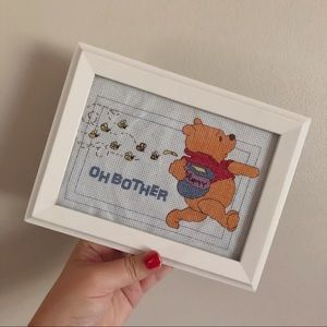 Vintage | Winnie the Pooh 'Oh Bother' Crochet Art